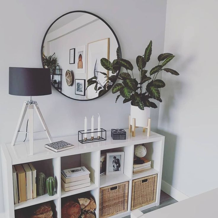 Photo of Ronde spiegel woonkamer decor modern interieur kamerplanten decor #Modernl …